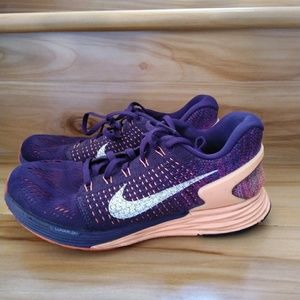 Nike lunarglide purple pink shoes size 6.5